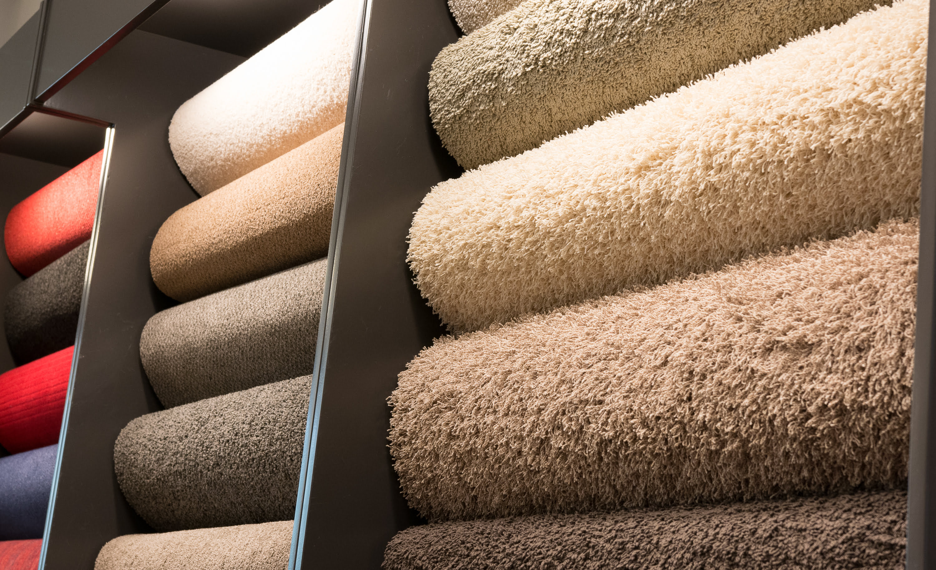 Fifteen swatches of different carpets, colours and piles, K & M Carpets & Interiors, Shaftesbury Mews, Bath, Whiteway, Twerton, Bear Flat, The Oval, Southdown